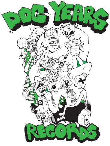 Dog Years Records shirt design