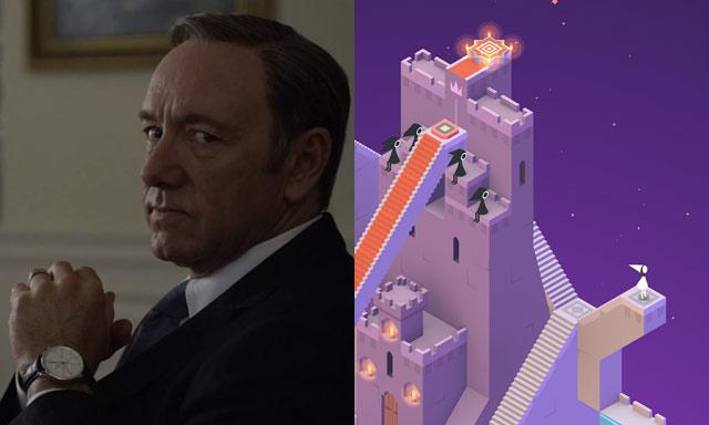 Frank Underwood get his jollies on Monument Valley